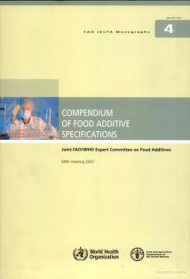 Compendium of food additive specifications by Joint FAO/WHO Expert Committee on Food Additives.