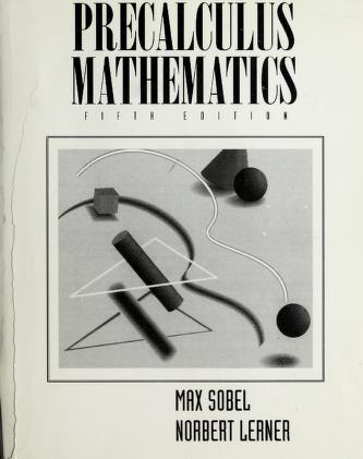 Cover of: Precalculus mathematics | Max A. Sobel
